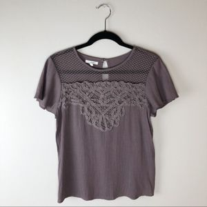 MAURICES | Purple Lace Front T-Shirt Size Small